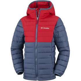 Columbia Powder Lite - Veste Enfant - rouge/bleu